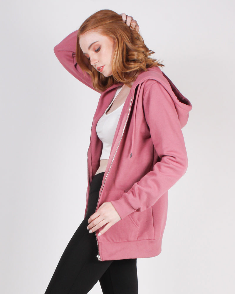 Fashion Q Shop Q Make Yourself Proud Zip-up Hoodie (Mauve) JK910