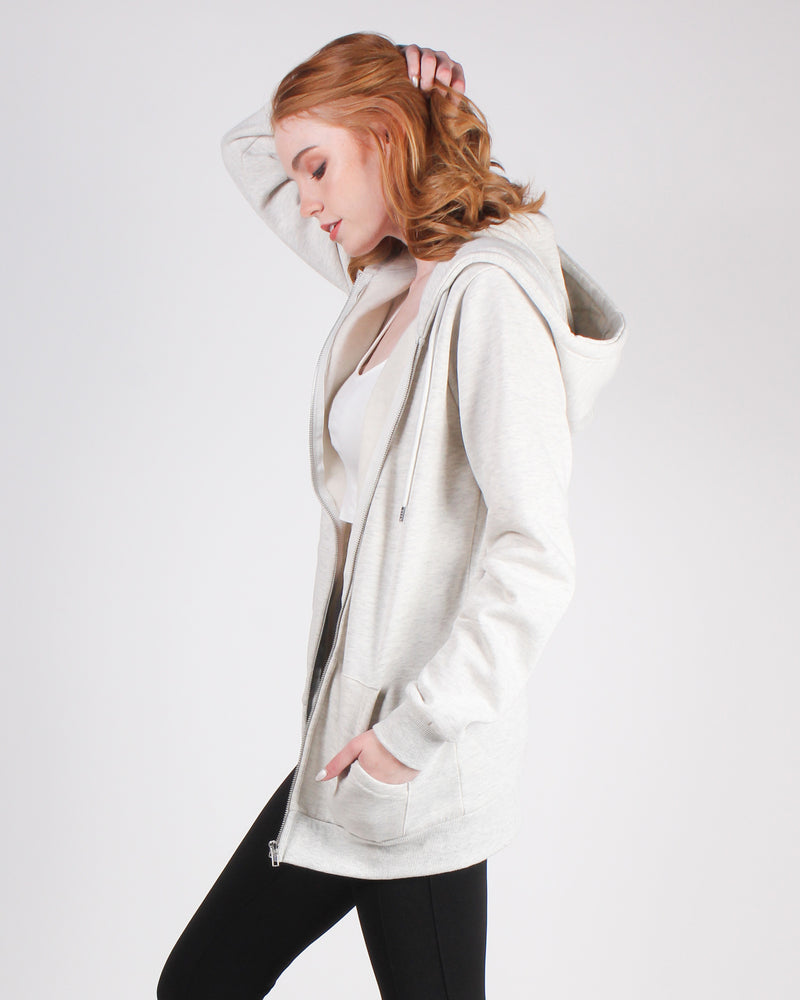 Fashion Q Shop Q Make Yourself Proud Zip-up Hoodie (Oatmeal) JK910