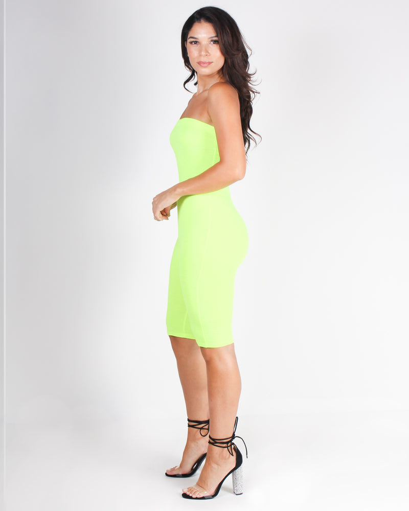 Shop Q Fashion Q Let's Be Bad Romper Neon Lime JR34866