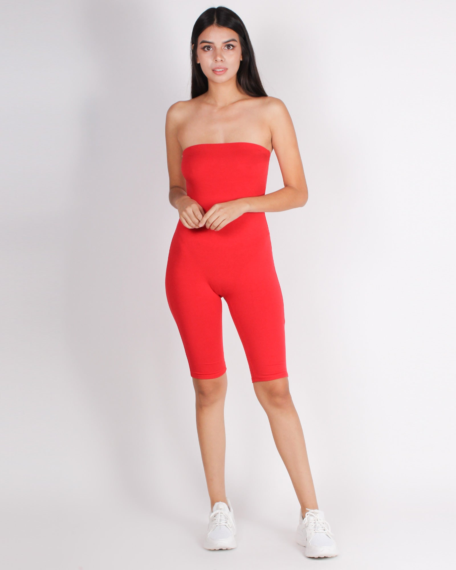 Fashion Q Shop Q Let's Be Bad Romper (Red) JR34866