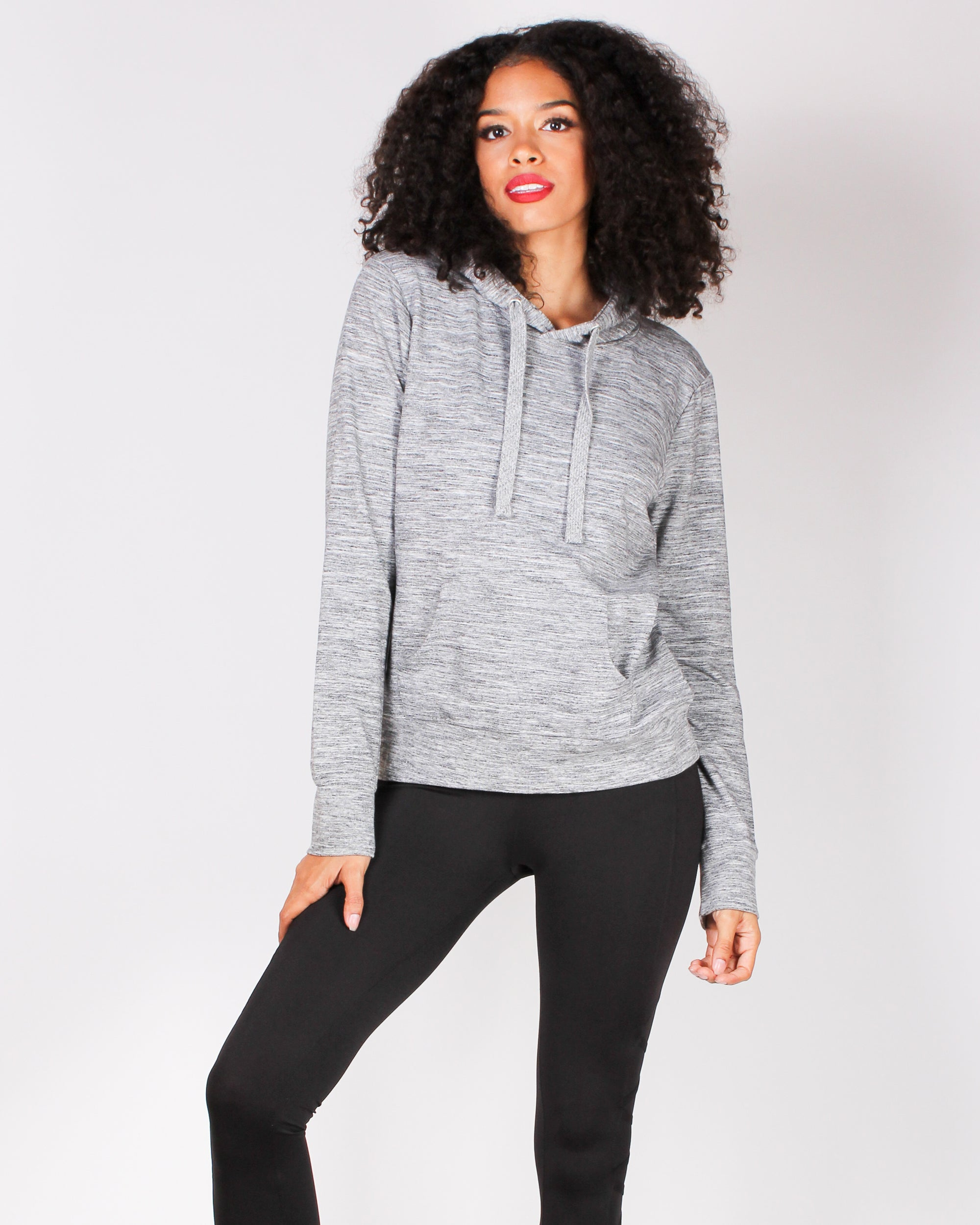 Fashion Q Shop Q The Rockie Hoodie (Heather Grey) JU070