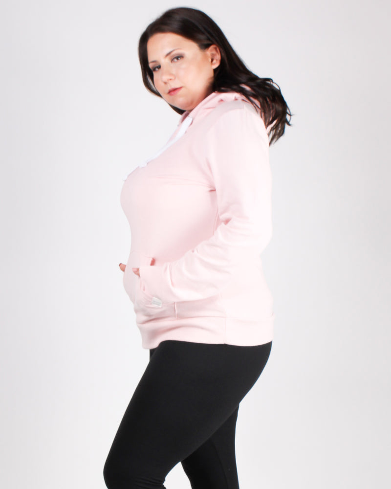 Reaching for the Top Plus Hooded Sweater (Pink)