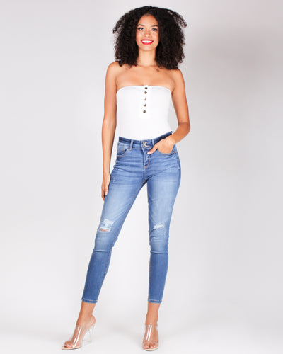 Fashion Q Shop Q Thriving on Style Tube Top Bodysuit (White) JU36184