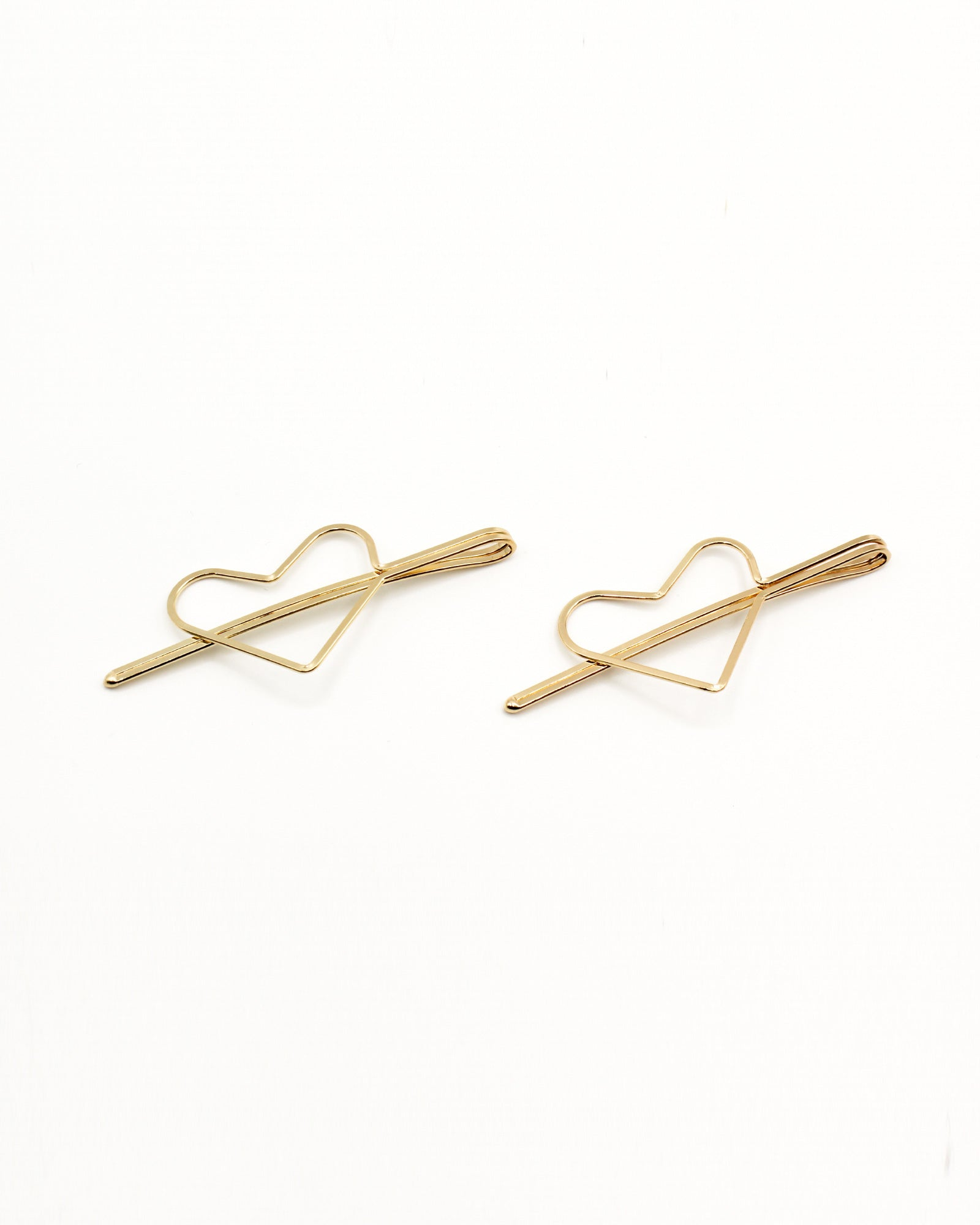 Fashion Q Shop Q Make Your Heart Smile Set of Gold Hair Pins KH3846G