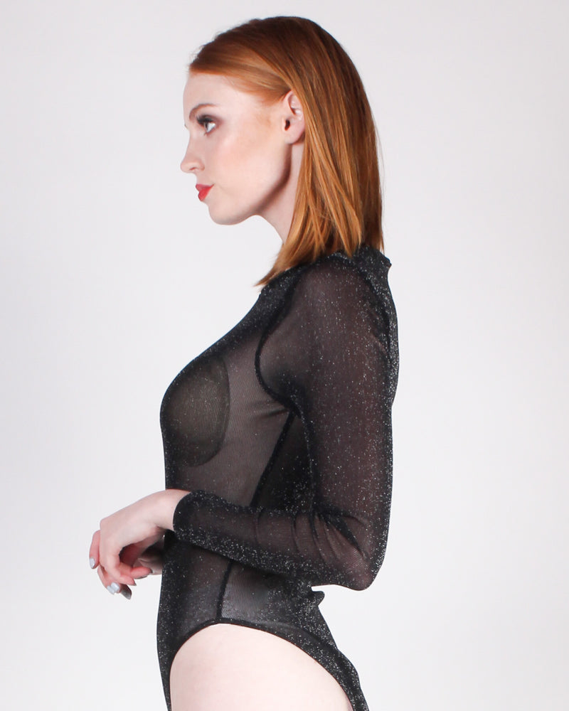 Fashion Q Shop Q Lets Mesh Around Bodysuit (Black) KT2042