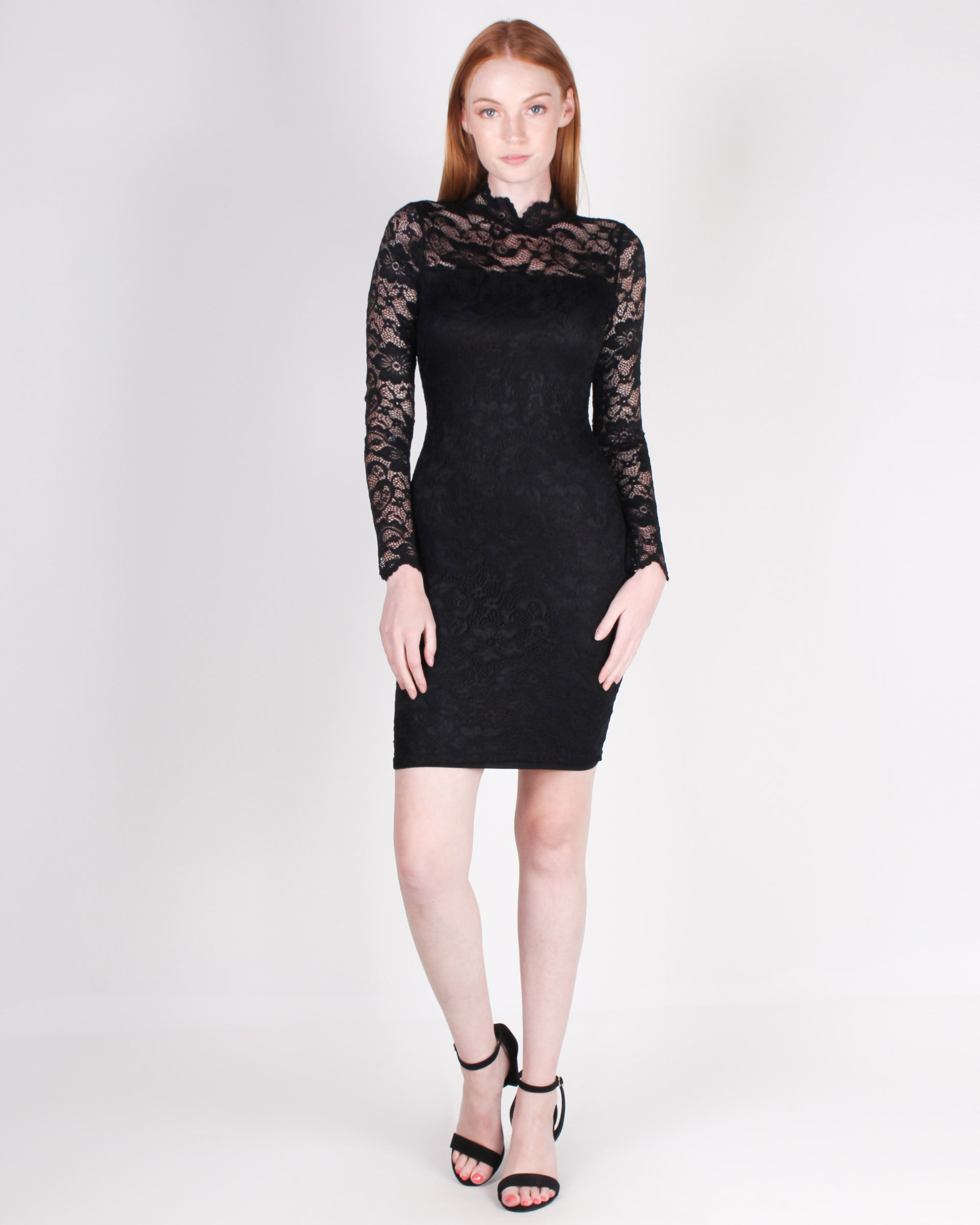 SHop Q Fashion Q Hats Off to a Lacing Good Time Bodycon Dress (Black) LD36066L
