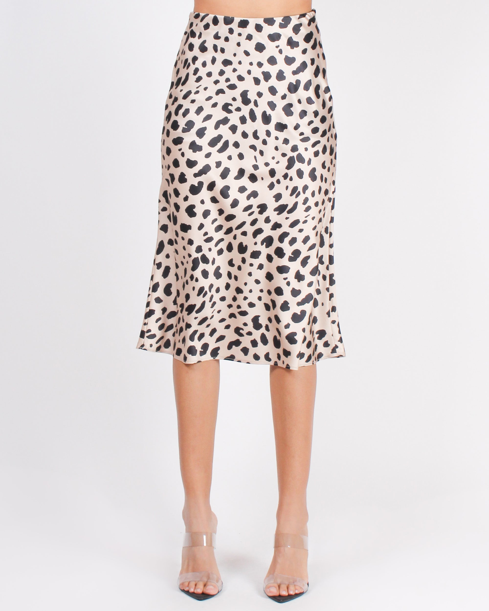 Fashion Q Shop Q Attract What You Want Cheetah Midi Skirt (Leopard) LS50962S
