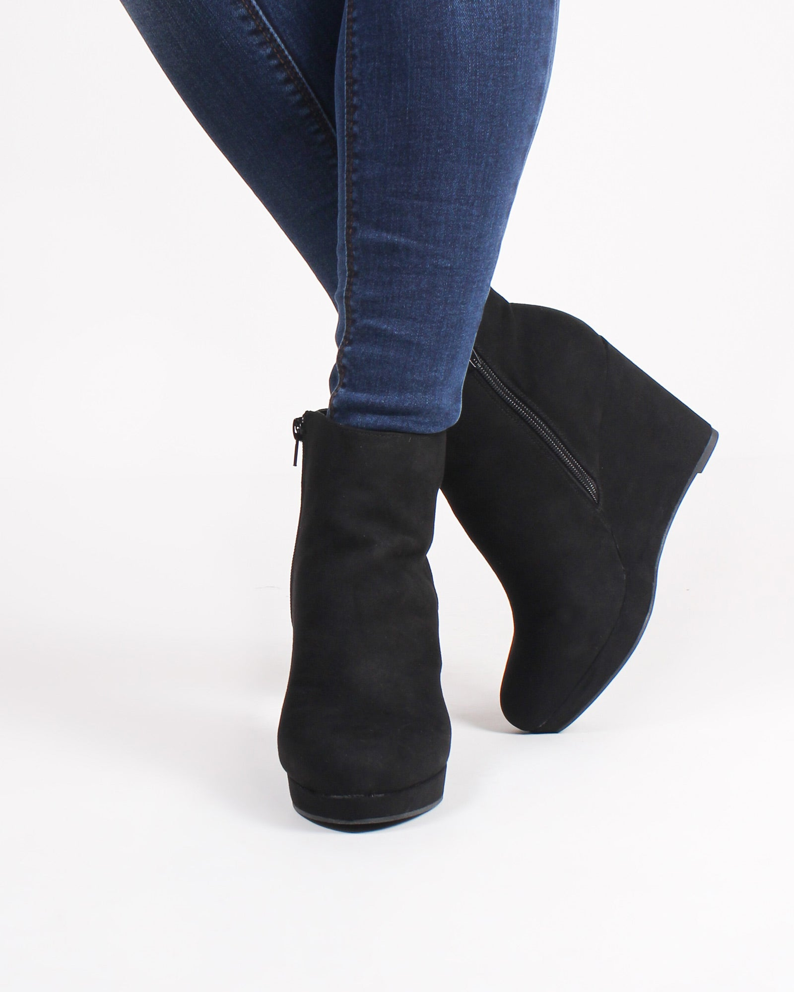 Fashion Q Shop Q Rockport Wedge Booties (Black) MANIFEST-11