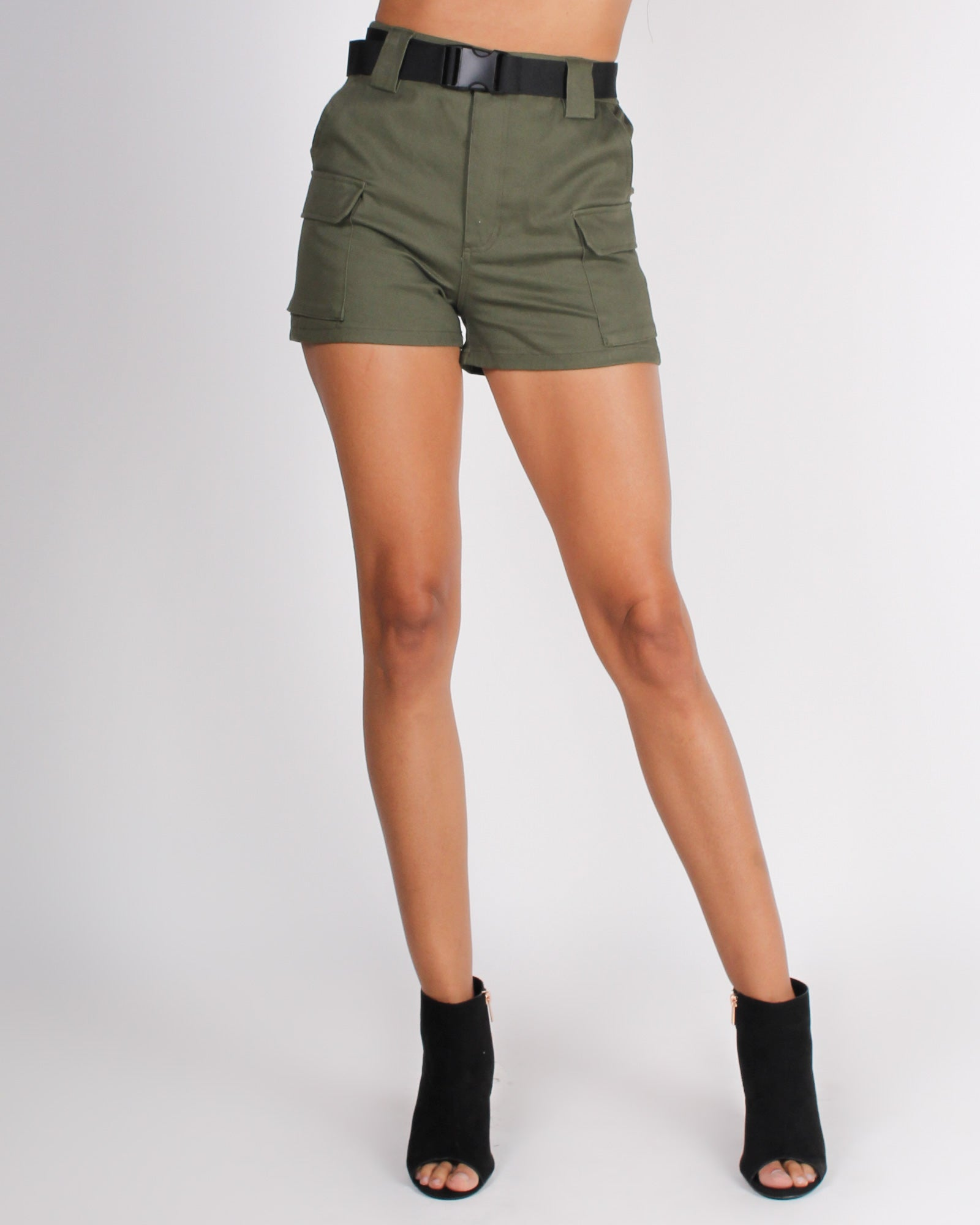 Fashion Q Shop Q Go Your Own Way Shorts (Olive) P6040