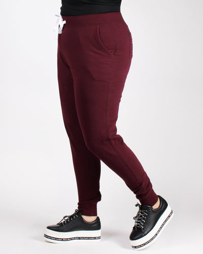 Own it, Babe Plus Jogger Pants (Maroon)