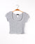 Fashion Q Shop Q Life Must Be Lived as Play Crop and Skirt Set (Grey)