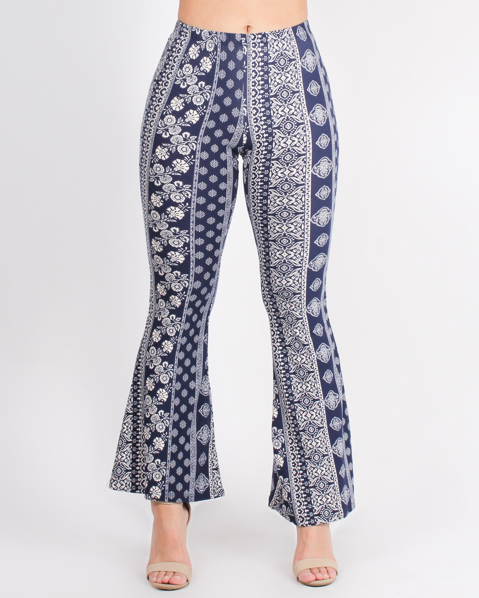 Adventure on My Mind Tribal Boho Bell Bottom Pants (Navy)