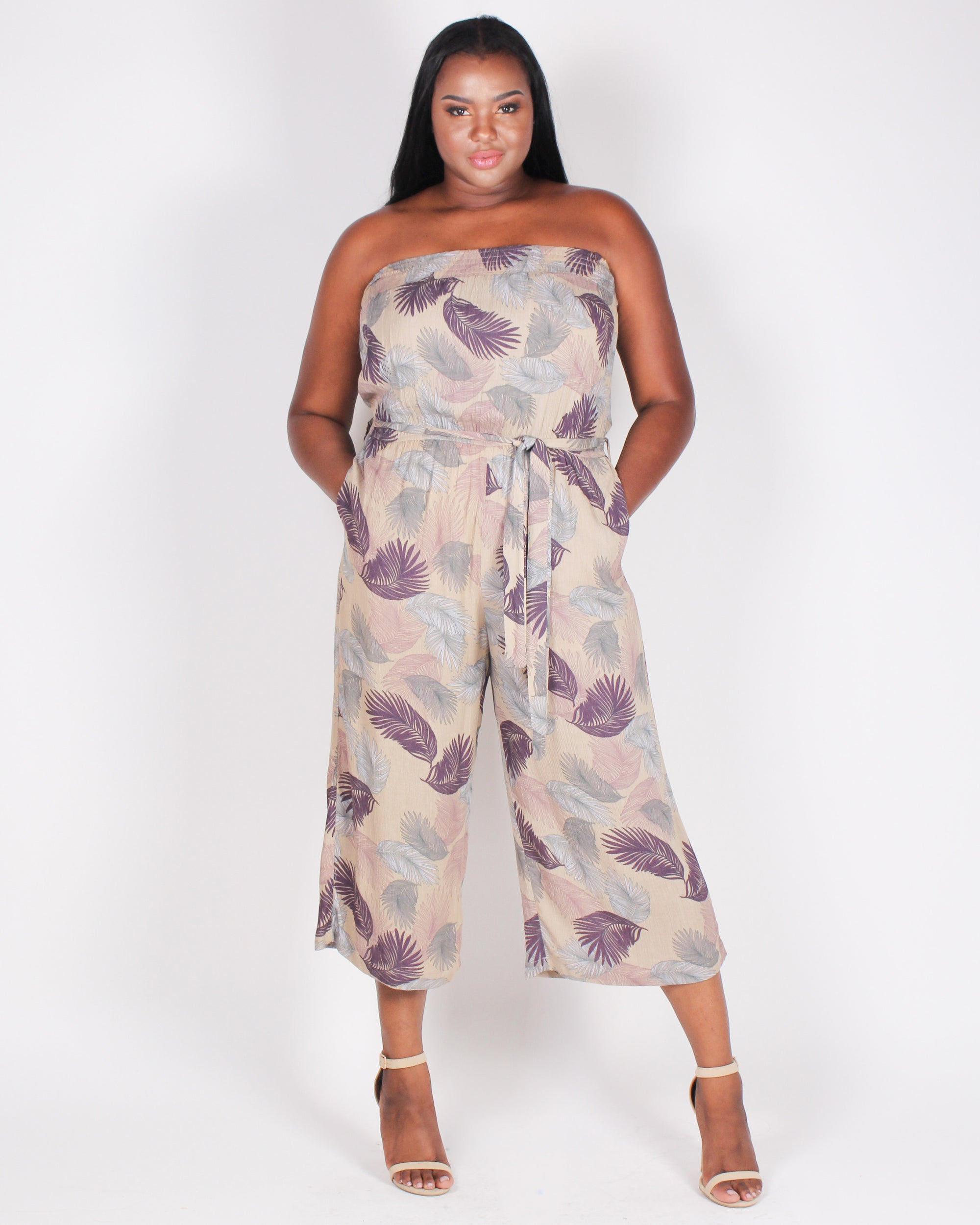 Disconnect to Reconnect Tube Jumpsuit (Taupe)
