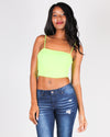 Fashion Q Shop Q What Will Be, Will Be Crop Top (Neon Lime) RC33083