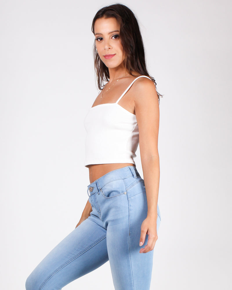 What Will Be, Will Be Crop Top (White)
