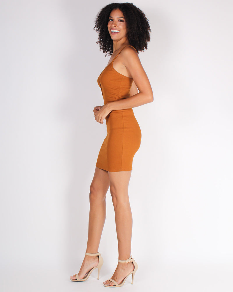 Fashion Q Shop Q Crave You Bodycon Dress (Terracotta) RD35268
