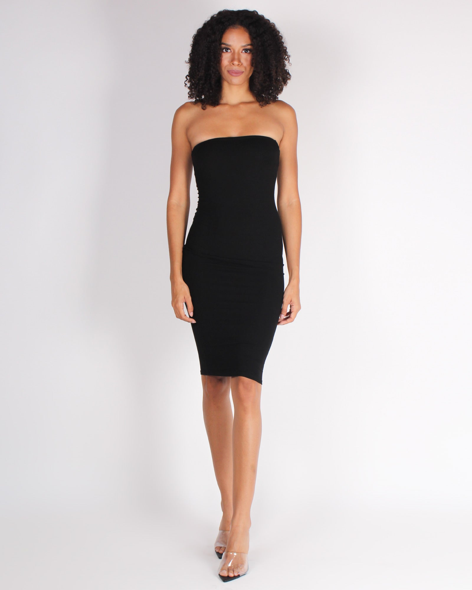 Fashion Q Shop Q Be Crazy, Wild, Free Tube Bodycon Dress (Black) RD61548