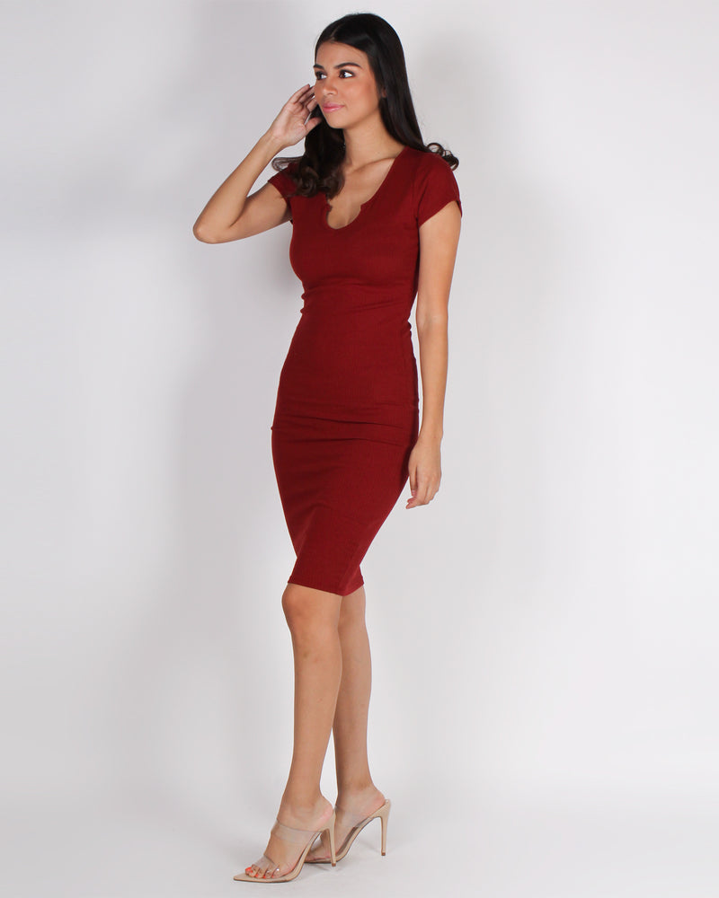 Fashion Q Shop Q So What, Look at This  Bodycon Dress (Blood Orange) RD68295