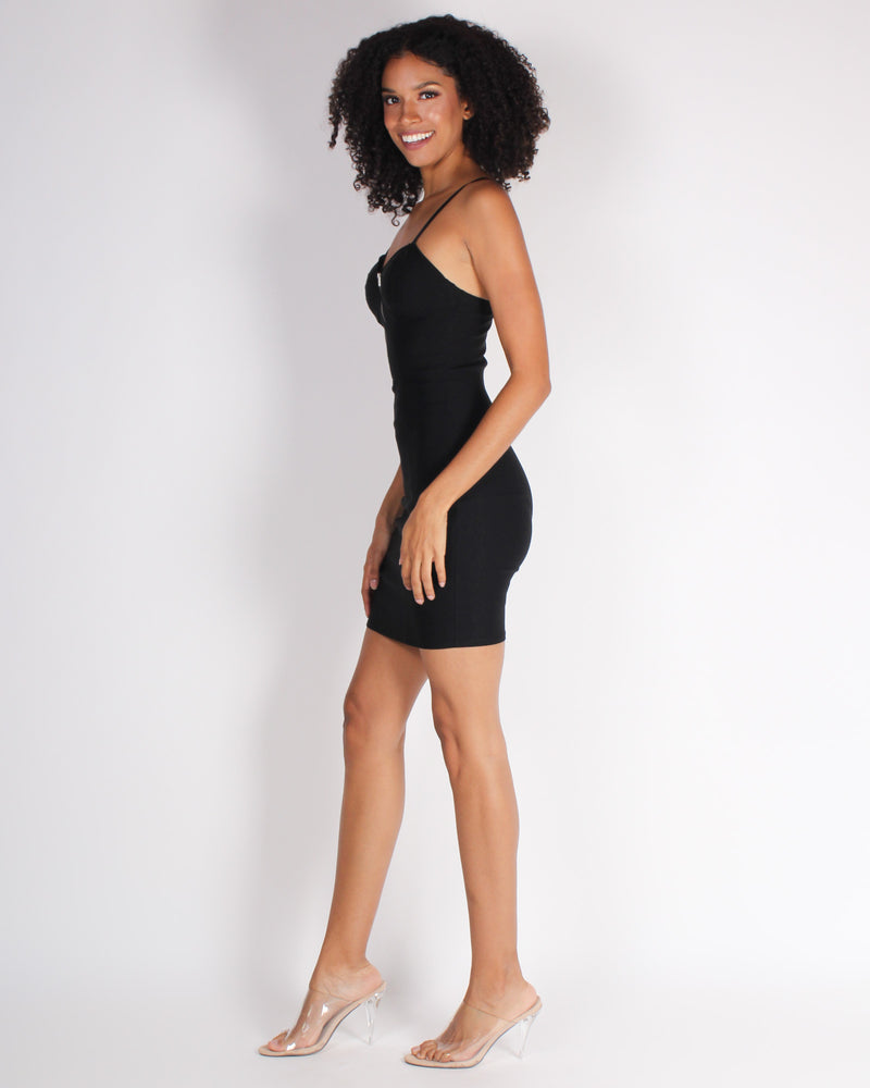 Fashion Q Shop Q Celebrate Life Bodycon Dress (Black) RD70066