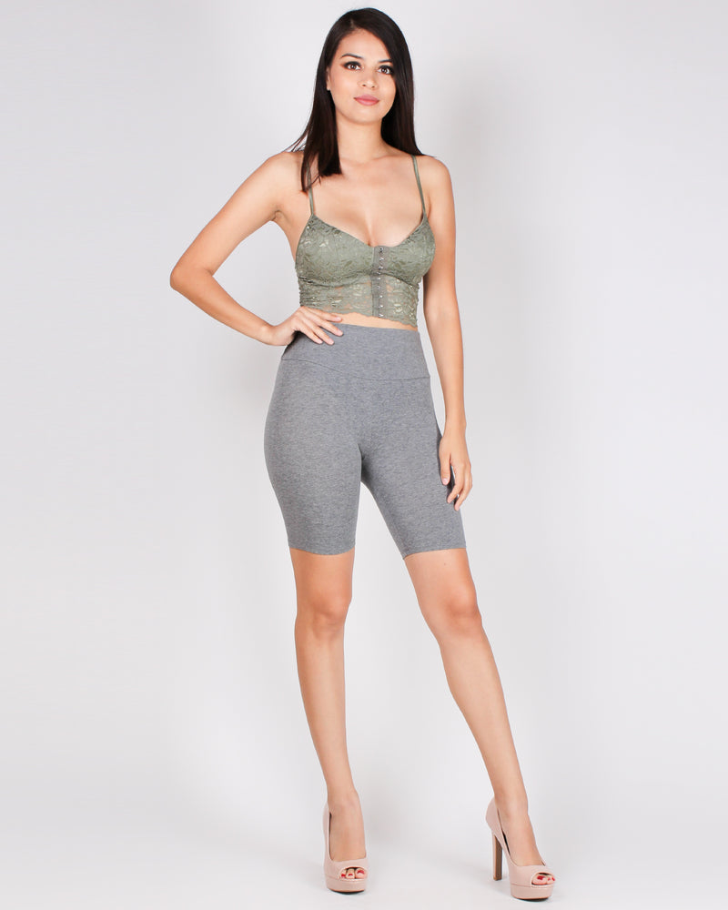 Feed Your Wanderlust Biker Shorts (Grey)