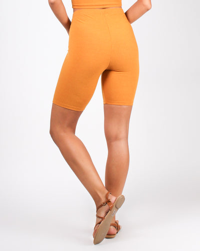The Art of Subtle Distraction Biker Shorts (Butterscotch)