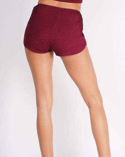 Fashion Q Shop Q You Know How I Feel Shorts (Cherrywood) RP62530