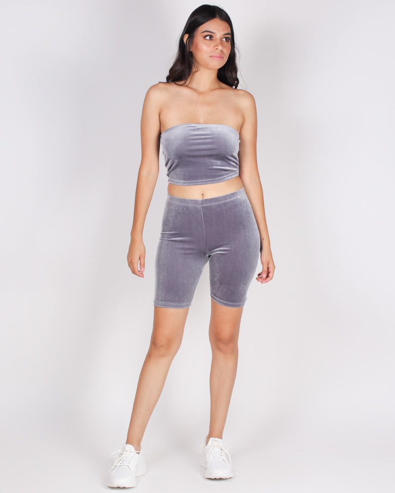 Fashion Q Shop Q Better Walk the Walk Baby Biker Shorts (Grey) RP62540