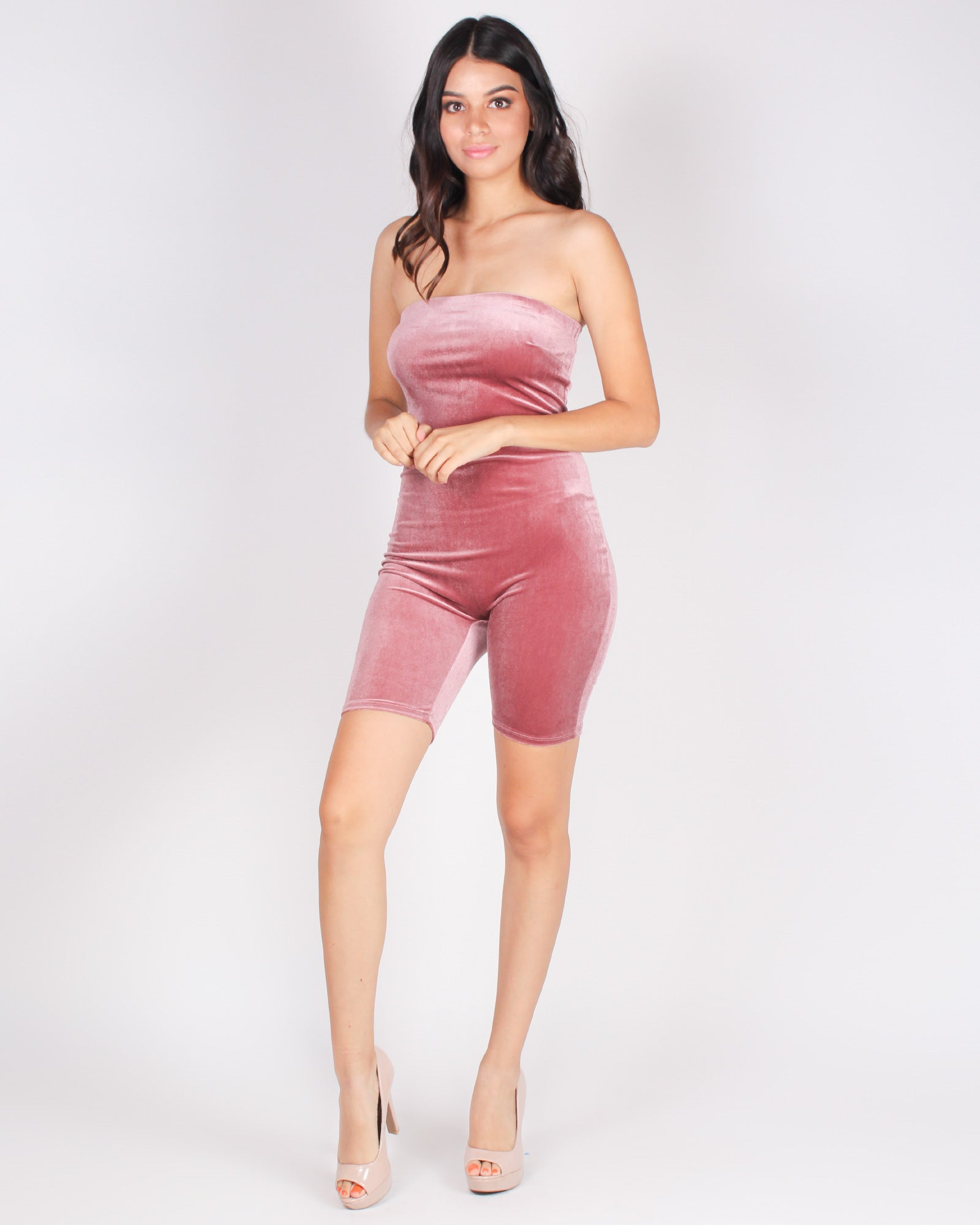 Fashion Q Shop Q Put Yourself Out There Romper (Smokey Mauve) RP68068
