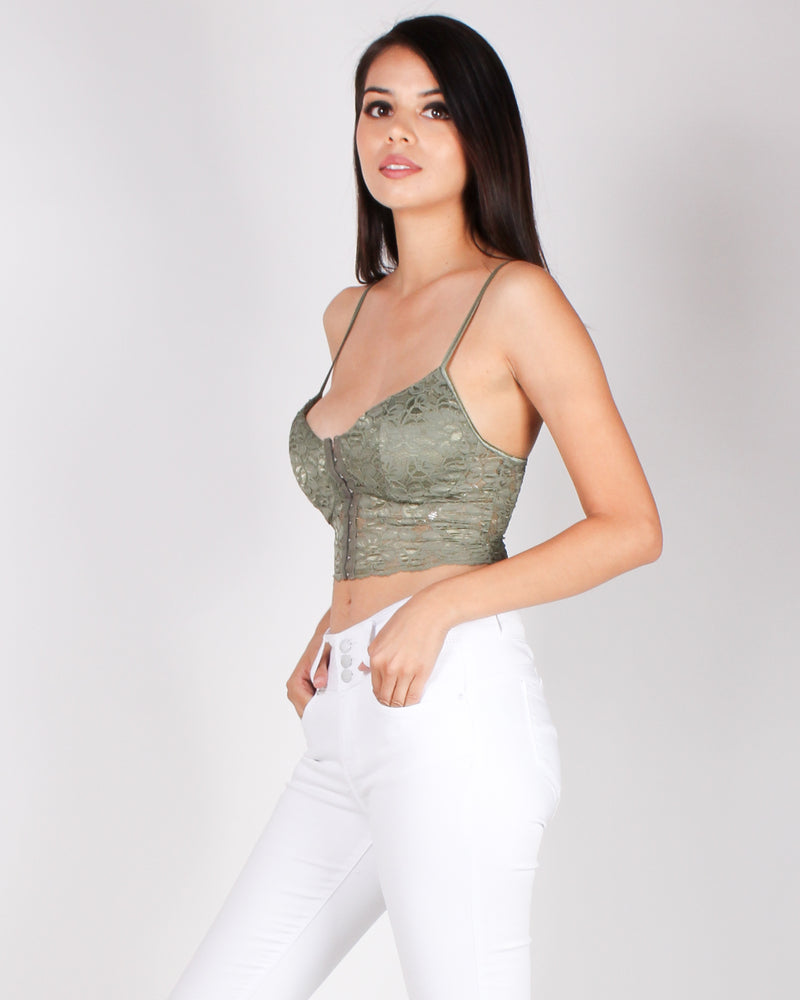 The Game of Chest Bustier Top (Army)