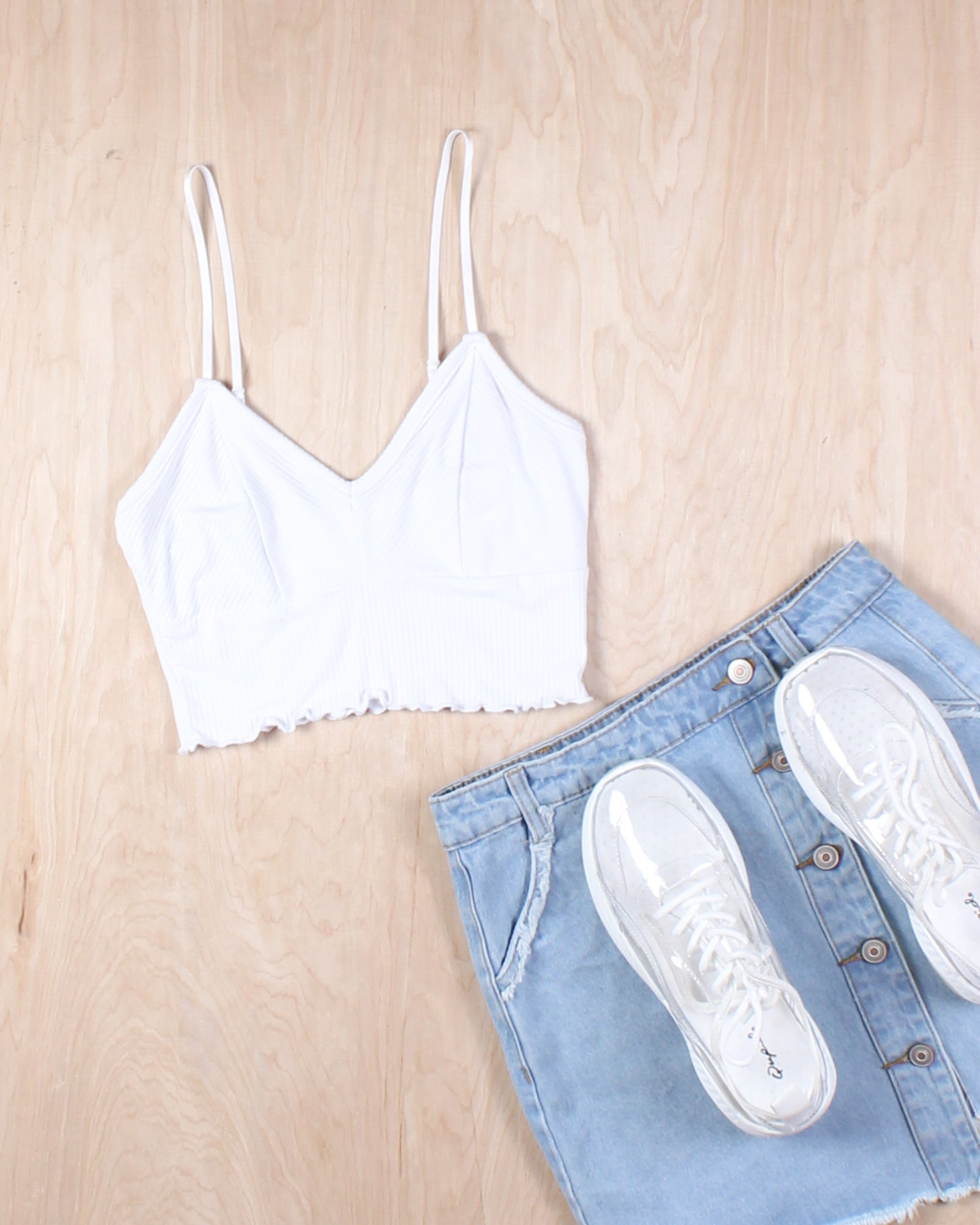Fashion Q Shop Q Slay the Day Crop Top (White) RT52530