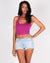 The Q Basics: The Feel So Fine Basic Cropped Tank Top (Hot Magenta)
