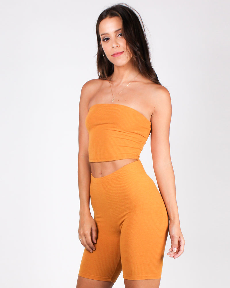 You've Got This Vibes Tube Top (Butterscotch)