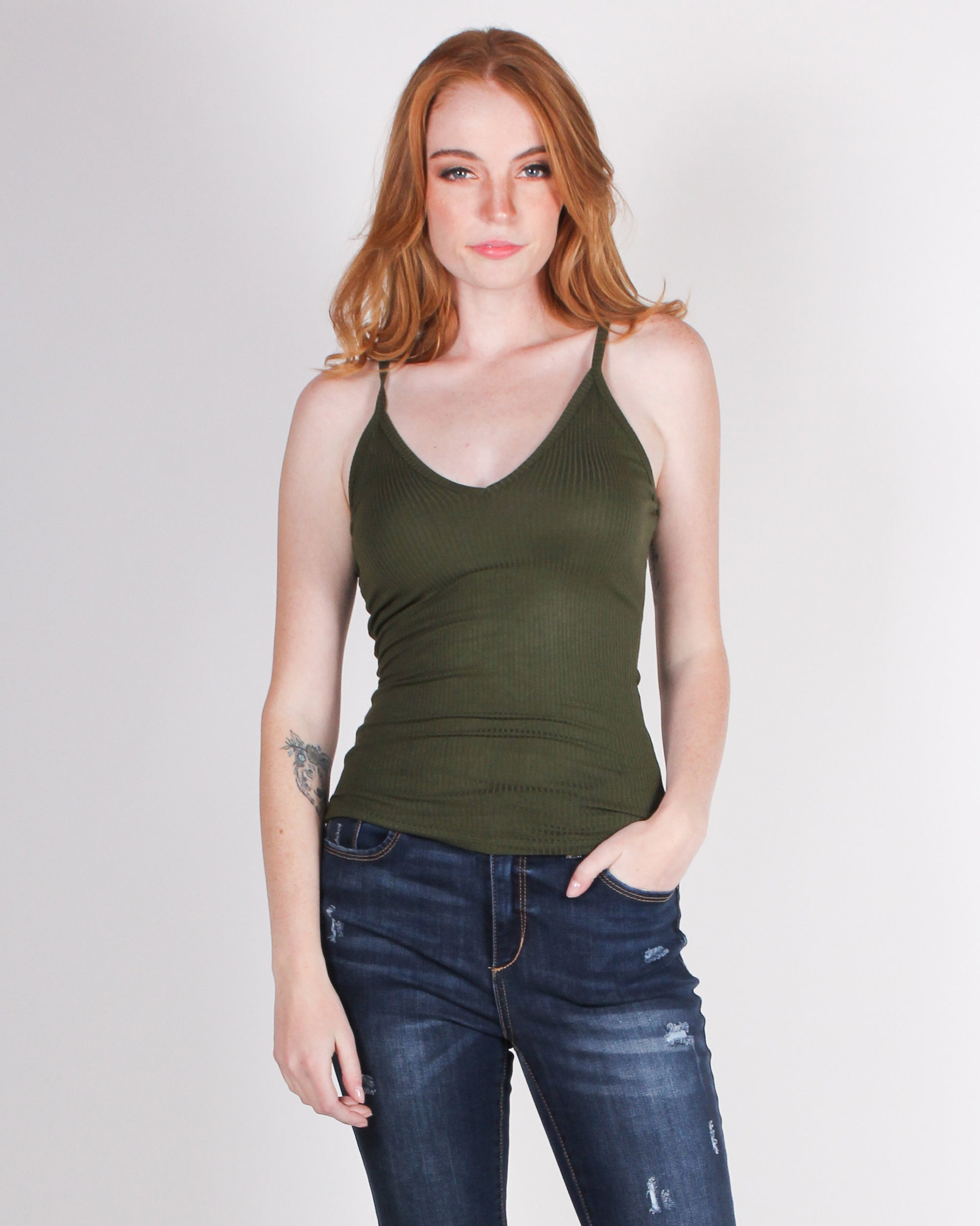 Fashion Q Shop Q Create Your Own Future Tank (Burnt Olive) RT62215