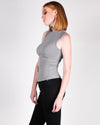 Potentials are Endless Mock Turtleneck Tank (Dark Heather Grey)