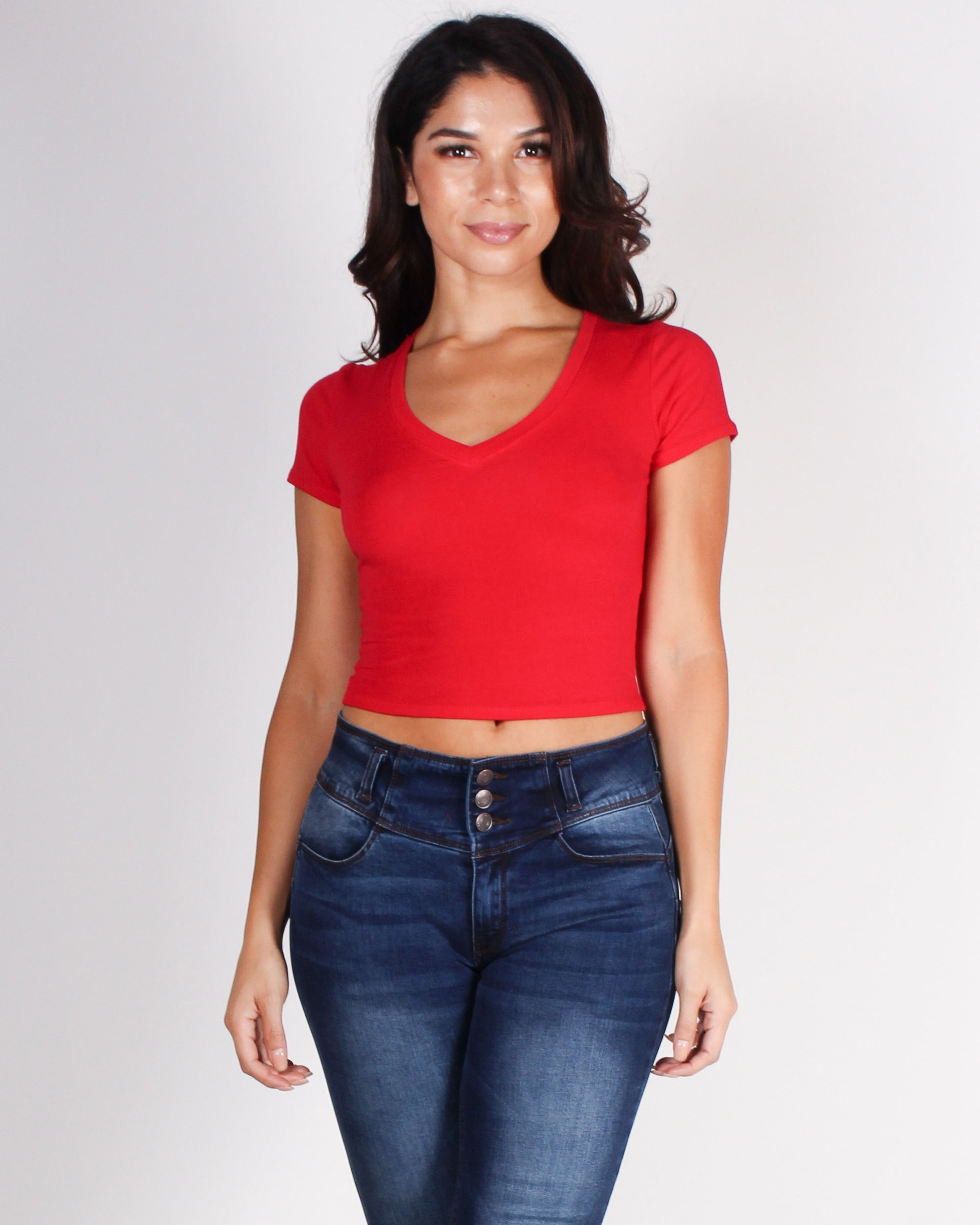 Fahsion Q Shop Q Never Too Late Crop Top (Red) RT63221