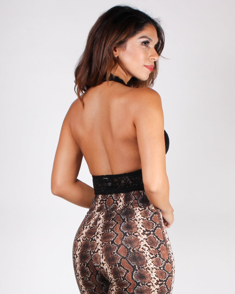 A Dose of Lace Halter (Black)