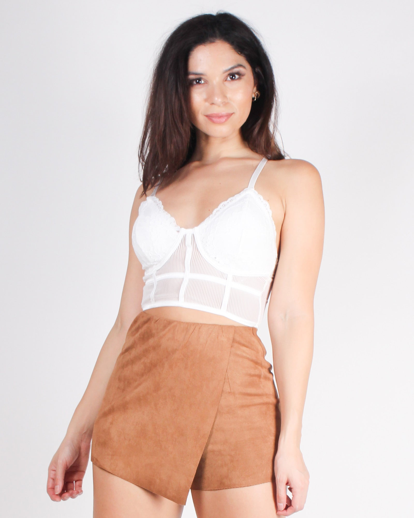 Wander and Wonder Wildly Lace Bralette (Off White)