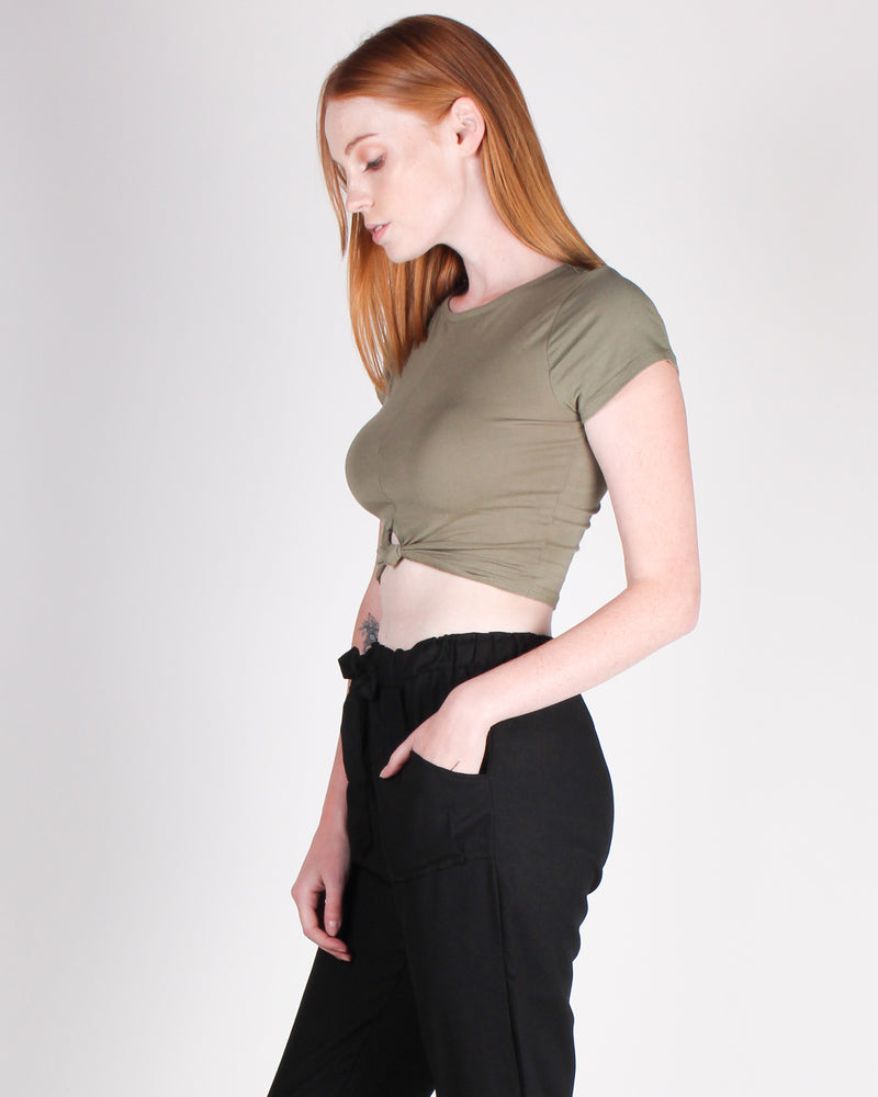 Fashion Q Shop Q Must Have You Crop Top (Army) RT70211