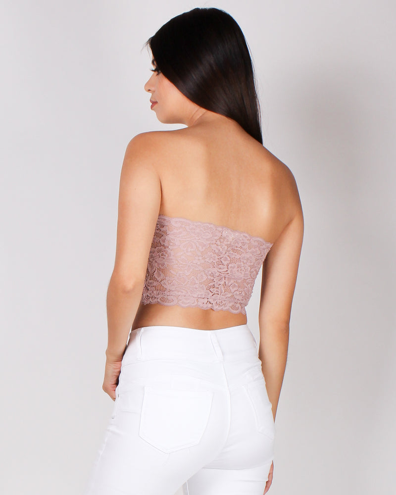 Fashion Q Shop Q But, First Lace Bandeau (Coco Rose) RT70236