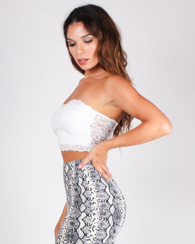 But, First Lace Bandeau (White)