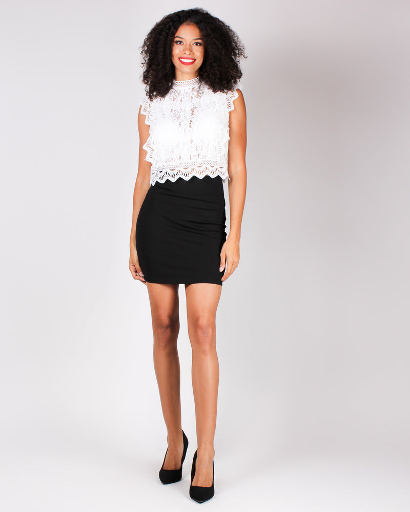 Fashion Q Shop Q Catch Me Pencil Skirt (Black) S2756