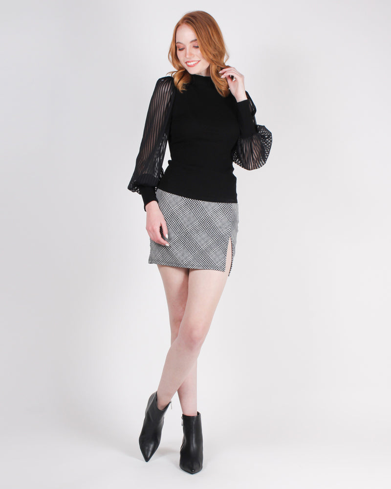 Fashion Q Shop Q As if! Miniskirt (Black/White) S8386