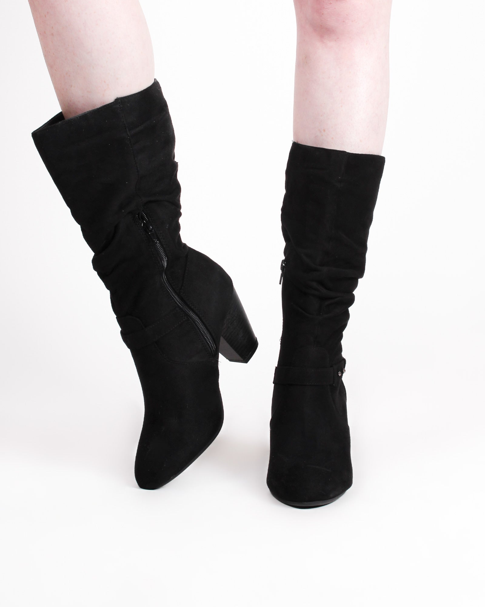 Fashion Q Shop Q Bangor Slouchy Boots (Black) SOUND-S