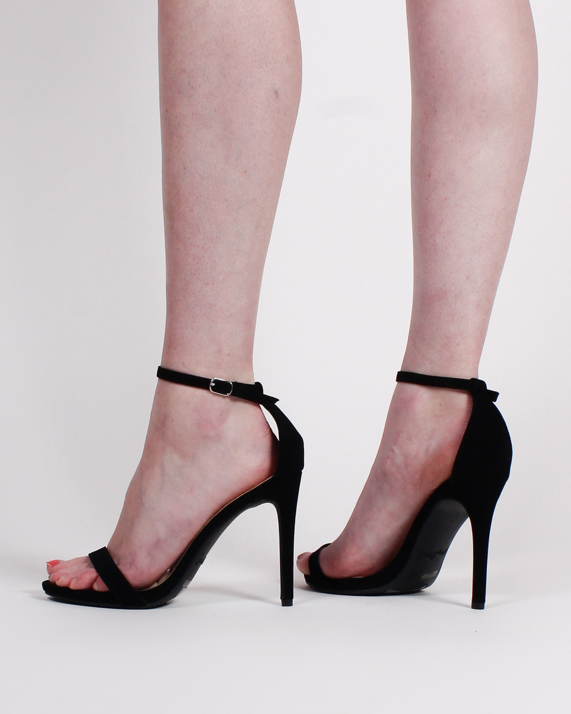 Fashion Q Shop Q Midtown Open Toe Heels SUGARLOVE-01 Black
