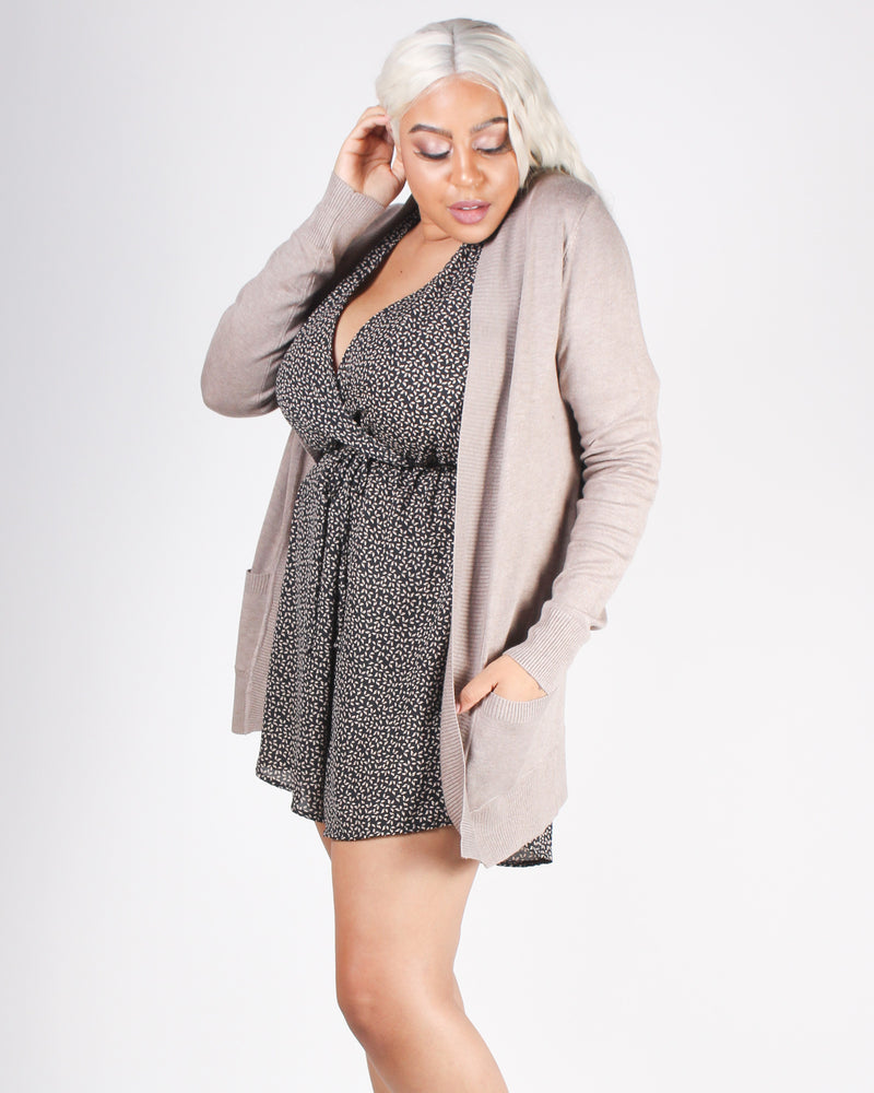 Fashion Q Shop Q New Day, New Start Cardigan (Taupe) SW565