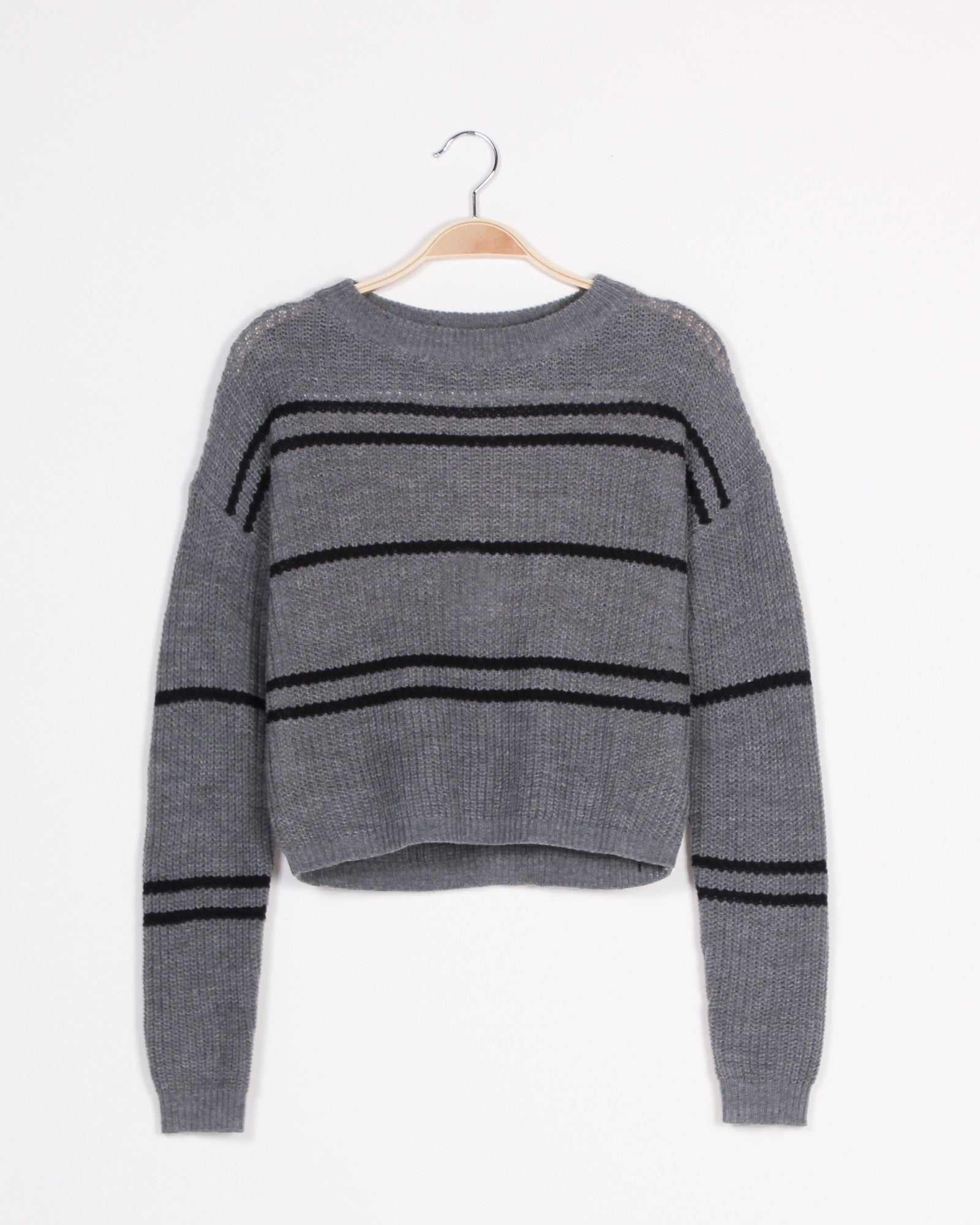 Fashion Q Shop Q Never Let You Go Crop Sweater (Charcoal) SW6342