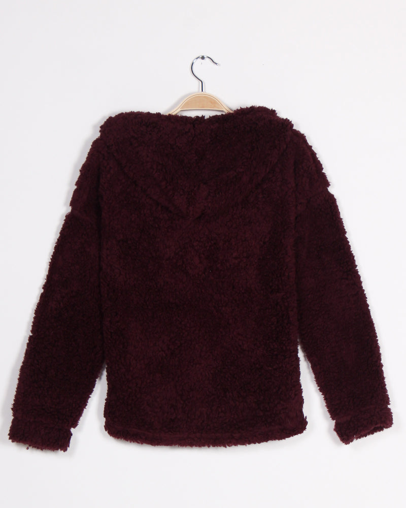Fashion Q Shop Q Are You Fur-eal Hoodie (Burgundy) T10132