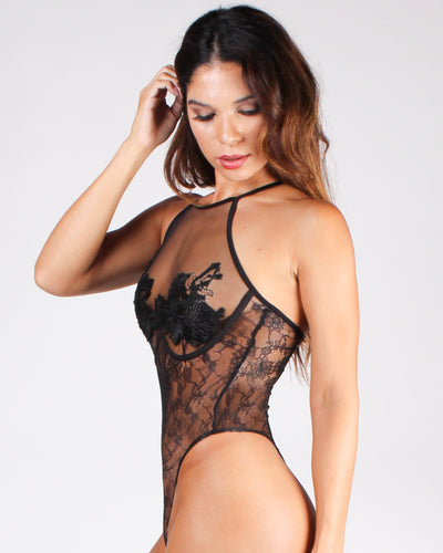 You Can't Handle This Mesh Bodysuit (Black)