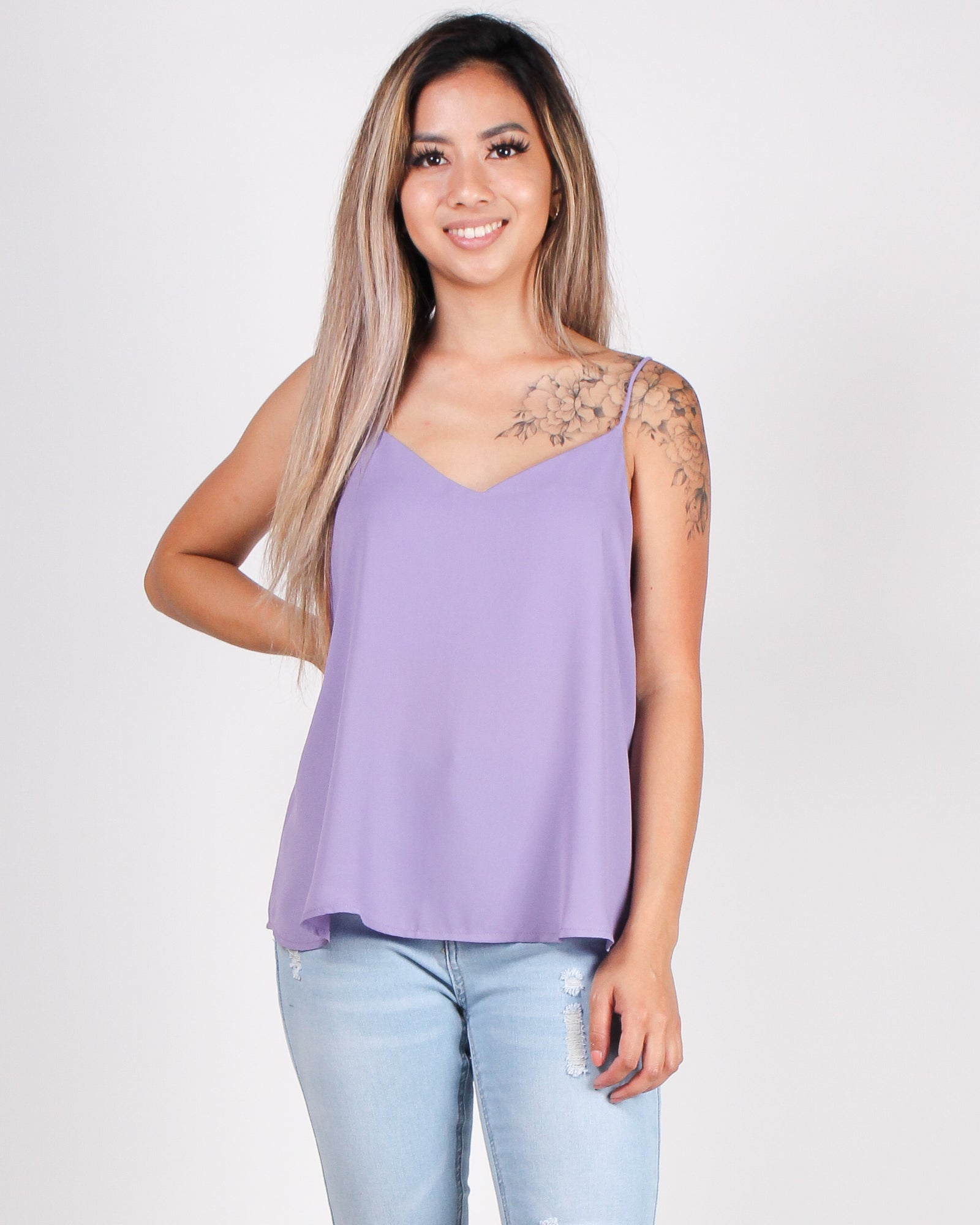 One Day at  a Time Blouse (Lavender)