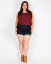 Fashion Q Shop Q Rhyme and Harmony Boho Chic Plus Tank (Burgundy) T1082X